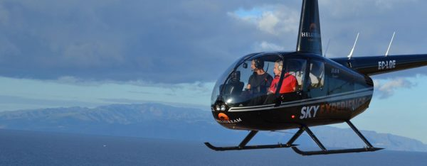helicopter with clients
